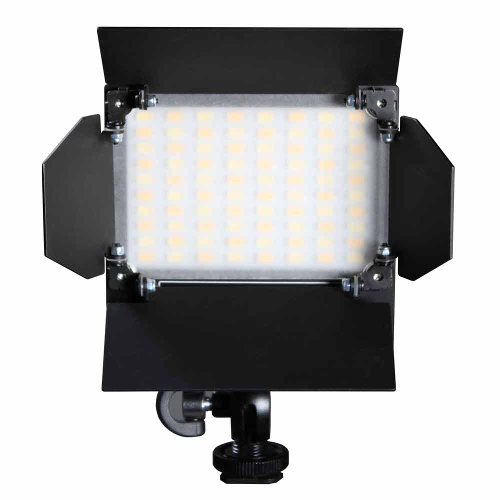 Akurat Lighting » Magnetic barndoors with diffuser for on-camera light